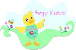 Easter Duck and Bee Stock Image