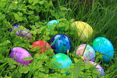 Easter dyed eggs Royalty Free Stock Images