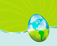 Easter Earth Egg Stock Images