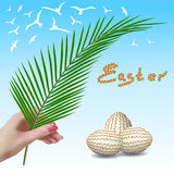 Easter. Easter branch. Palm branch. Palm Sunday. Royalty Free Stock Photos