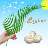 Easter. Easter branch. Palm branch. Palm Sunday. Stock Images