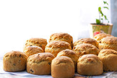 Easter, Easter cupcakes or Easter homemade bread Royalty Free Stock Photo