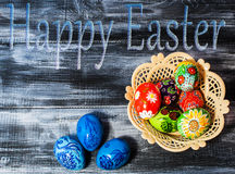Easter/ Easter eggs basket stock photos