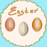 Easter. Easter eggs. Christ is Risen. Stock Images