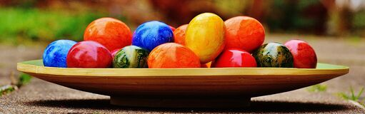 Easter, Easter Eggs, Colorful Stock Photo