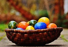 Easter, Easter Eggs, Colorful Stock Image