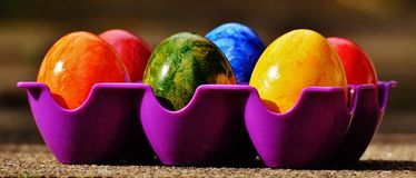 Easter, Easter Eggs, Colorful Royalty Free Stock Photography