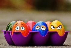 Easter, Easter Eggs, Funny, Eyes Stock Photography