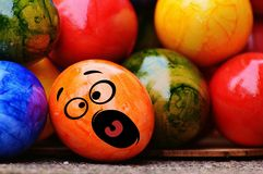 Easter, Easter Eggs, Smiley, Funny Royalty Free Stock Photography