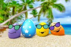 Easter. Travel egg beach tourism summer group Royalty Free Stock Photography