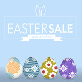 The easter eegs banner for easter sales with special offers Stock Photo