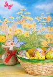 Easter eegs and bunny Stock Photos