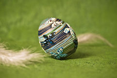 Easter egg. Hand-crafted Easter egg decoration Royalty Free Stock Images