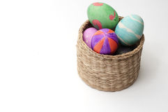 Easter egg. The colorful painted eggshell, symbolizes Easter Royalty Free Stock Photo