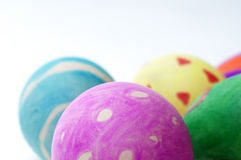 Easter egg. The colorful painted eggshell, symbolizes Easter Stock Image
