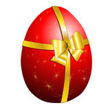 Easter egg. Illustration  easter egg gold bow Stock Photos