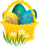 Easter egg. And floral ornament Royalty Free Stock Photos
