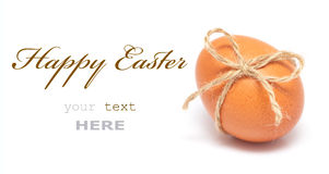 Easter egg. With festive bow isolated on white background (with space for text Stock Photo