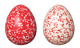 Easter egg. Two Easter eggs painted decorative floral ornament stock images