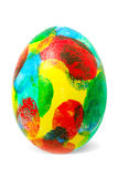 Easter egg. With multi-coloured fingerprints royalty free stock photo