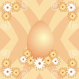 Easter egg. Illustration of easter egg and flowers Stock Illustration