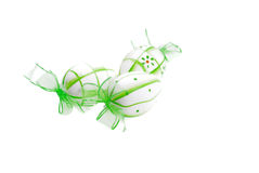 Easter egg. Eggs; painted eggs; leaves; tradition; spirituality; religion; easter; s; red leaves; yellow leaves; food; towel; romanian towel; concept; design Royalty Free Stock Images