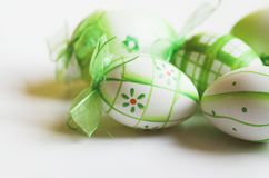 Easter egg. Eggs; painted eggs; leaves; tradition; spirituality; religion; easter; s; food; towel; romanian towel; concept; design; poland; bright; colorful stock images