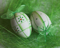 Easter egg. Eggs; painted eggs; leaves; tradition; spirituality; religion; easter; s; food; towel; romanian towel; concept; design; poland; bright; colorful stock image