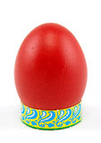 Easter egg. Red easter egg on white background Royalty Free Stock Photos