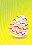 The Easter Egg. The picture of simply Easter egg with lines royalty free stock photography