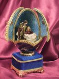 Easter Egg. In Faberge style with Jesus's birth Royalty Free Stock Photography