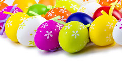 Easter Egg. Colorful Easter eggs on a white background royalty free stock images