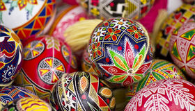 Easter egg,. Hand painted beautiful and colorful Stock Image
