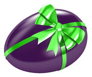 Easter egg. With satin bow Stock Image