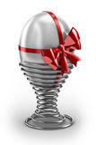 Easter Egg. On spring holder Royalty Free Stock Images