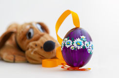 Easter Egg. With Dog Pluto Royalty Free Stock Image