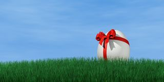 Easter egg. Packed as an gift Royalty Free Stock Photo
