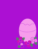 Easter egg. Easter egg with flowers Royalty Free Stock Image