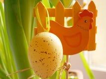 Easter egg. Easter yellow egg Stock Images