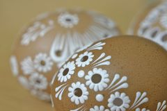 Easter egg. Brown easter egg. Spring eggs Stock Photography