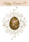 Easter egg. An illustration of a golden Easter egg Stock Image