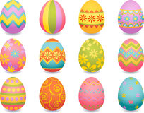 Easter egg. Vector illustration - easter egg icons Stock Photo