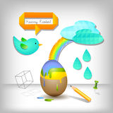 Easter egg abstract Royalty Free Stock Image