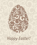 Easter egg. On abstract background Royalty Free Stock Image