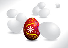 Easter egg - All white egg and one red egg Stock Image