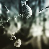 Easter egg. Artistic look in duotone style. Stock Photos