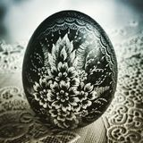 Easter egg. Artistic look in duotone style. Royalty Free Stock Image