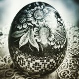 Easter egg. Artistic look in duotone style. Stock Photo