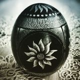 Easter egg. Artistic look in duotone style. Royalty Free Stock Images