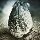 Easter egg. Artistic look in duotone style. Royalty Free Stock Photos